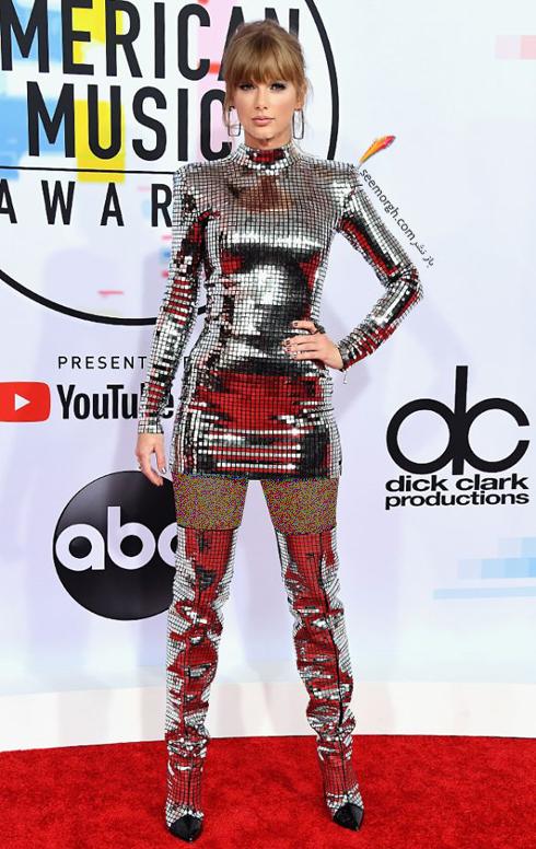 مدل لباس,بهترین مدل لباس,مدل لباس در جوایز موسیقی آمریکا,مدل لباس های برتر در American music awards 2018 - تیلور سویفت Taylor Swift
