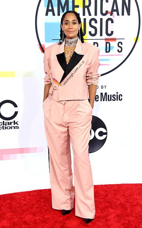 مدل لباس,بدترین مدل لباس,بدترین مدل لباس در جوایز موسیقی آمریکا,بدترین مدل لباس در American music awards 2018 - تریسی الیس روس Tracee Ellis Ross