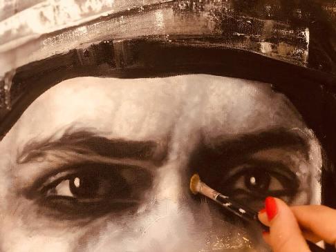 نقاشی آناهیتا درگاهی از چشمان اشکان خطیبی