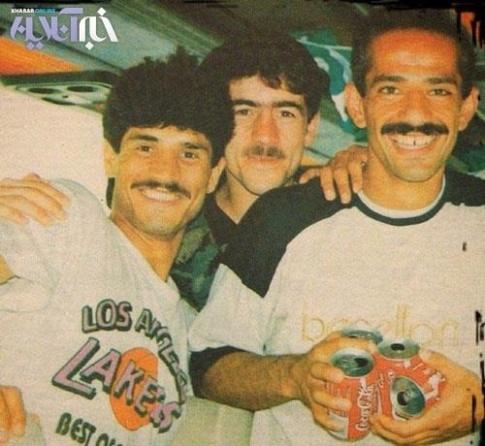 عکس قديمي علي دايي در کنار کريم باقري و محمد خاکپور