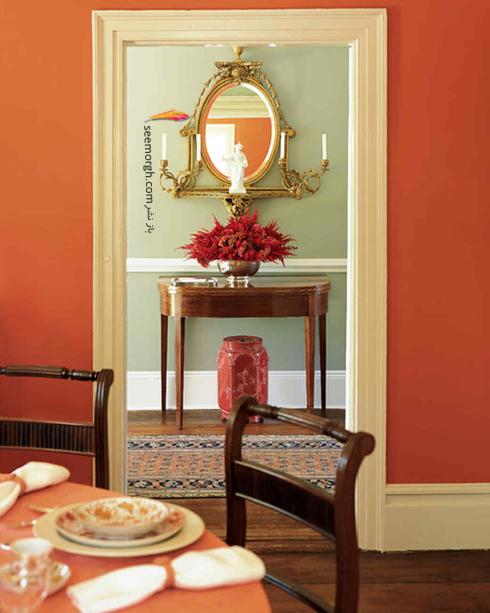 دکوراسيون,دکوراسيون پاييزي,دکوراسيون داخلي,انتخاب رنگ براي دکوراسيون پاييزي,دکوراسيون پاييزي با رنگ نارنجي