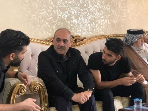 حميدرضا گرشاسبي و حسين خبيري در کنار بشار رسن