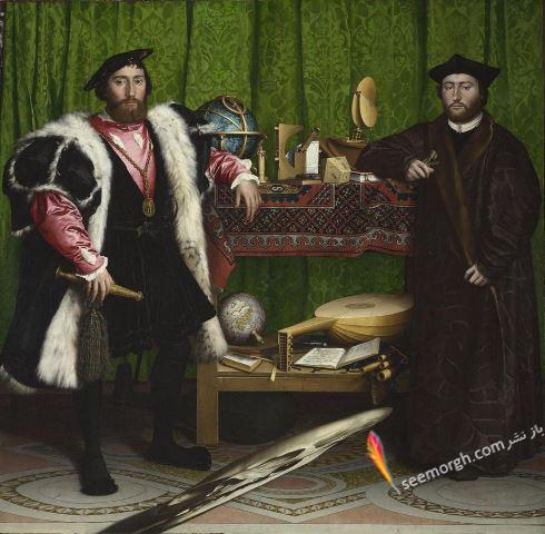 نقاشی ترسناک, سفیران,هنس هلباین