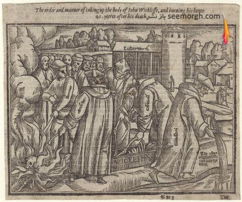 بیرون آوردن جسد John Wycliffe،