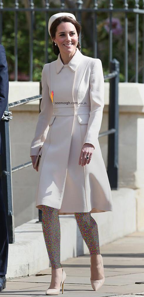پالتو,مدل پالتو,پالتو پاییزی,مدل پالتو پاییزی, پالتو پاییزی به سبک کیت میدلتون Kate Middleton - پالتو سفید