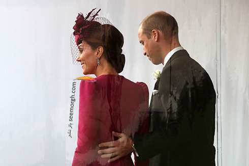 مراسم عروسی,مراسم عروسی نوه ملکه انگلیس,عکس هایی از مراسم عروسی نوه ملکه انگلیس,کیت میدلتون Kate Middleton و شاهزاده ویلیام در مراسم عروسی پرنسس اوژنی Eugenie