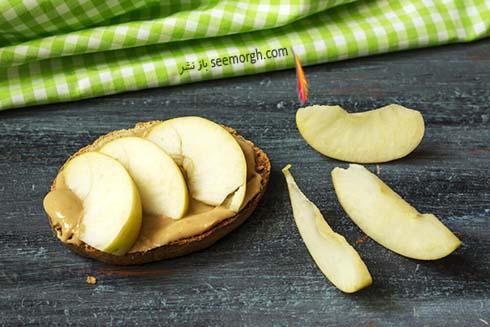 سیب و کره بادام زمینی