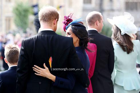 مراسم عروسی,مراسم عروسی نوه ملکه انگلیس,عکس هایی از مراسم عروسی نوه ملکه انگلیس,مگان مارکل Meghan Markle و پرنس هری Prince Harry در مراسم عروسی پرنسس اوژنی Eugenie