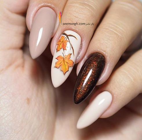 طراحی ناخن,طراحی ناخن برای پاییز,طراحی ناخن پاییزی,مدل طراحی ناخن,مدل طراحی ناخن پاییزی,طراحی ناخن سفید و کرم برای پاییز 2018