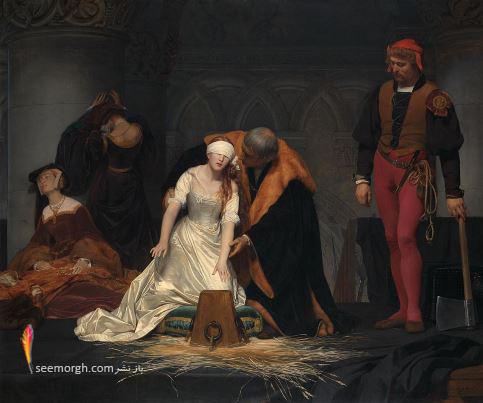 نقاشی ترسناک,اعدام لیدی جین گری Jane Grey , پل دلاروشه،