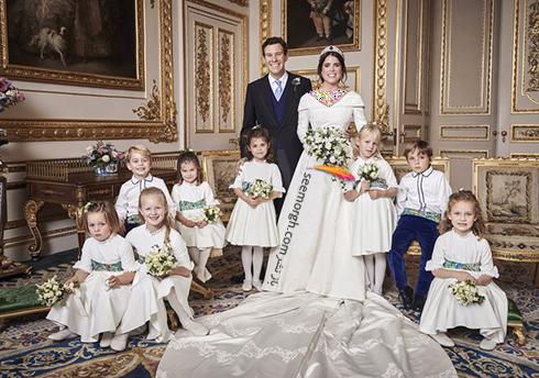اولین عکس خصوصی مراسم عروسی نوه ملکه انگلیس،پرنسس اوژنی Eugenie,مرام عروسی نوه ملکه انگلیس