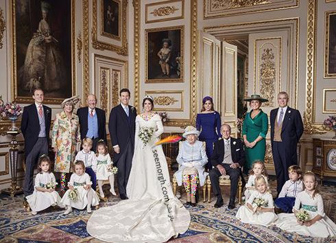 دومین عکس خصوصی مراسم عروسی نوه ملکه انگلیس،پرنسس اوژنی Eugenie,مراسم عروسی نوه ملکه انگلیس