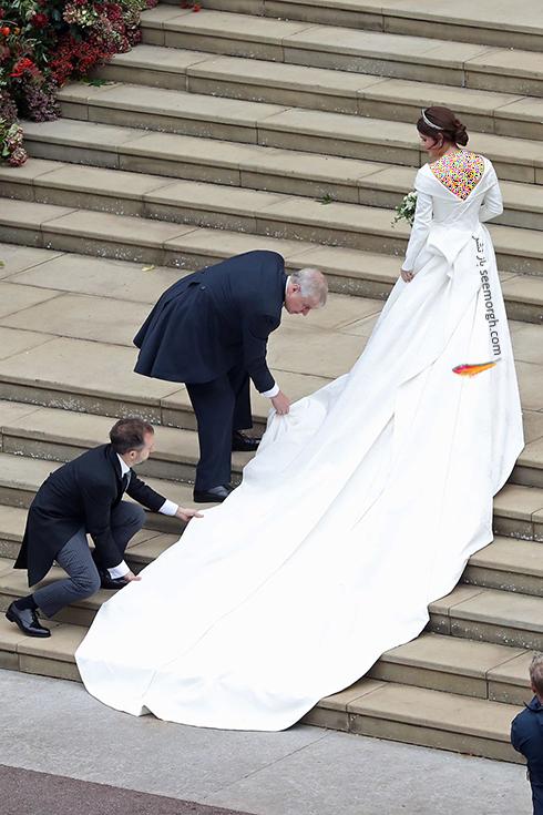 مراسم عروسی,مراسم عروسی نوه ملکه انگلیس,عکس هایی از مراسم عروسی نوه ملکه انگلیس, پرنسس اوژنی Eugenie در حال ورود به کلیسای سنت جورج
