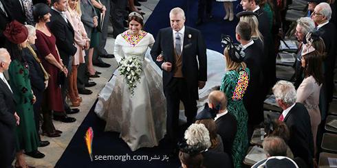 مراسم عروسی,مراسم عروسی نوه ملکه انگلیس,مراسم عروسی پرنسس اوژنی Eugenie نوه ملکه انگلیس - عکس شماره 2