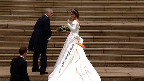 مراسم عروسی,لباس عروس,لباس عروس نوه ملکه انگلیس,مراسم عروسی نوه ملکه انگلیس,لباس عروس پرنسس اوژنی Eugenie نوه ملکه انگلیس- عکس شماره 6