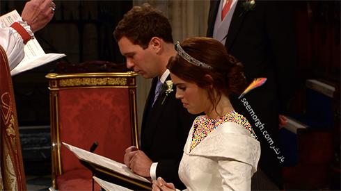 مراسم عروسی,مراسم عروسی نوه ملکه انگلیس,مراسم عروسی پرنسس اوژنی Eugenie نوه ملکه انگلیس - عکس شماره 4