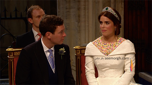 مراسم عروسی,لباسعروس,لباس عروس نوهملکه انگلیس,مراسم عروسی نوه ملکه انگلیس,لباس عروس پرنسس اوژنی Eugenie نوه ملکه انگلستان - عکس شماره 1