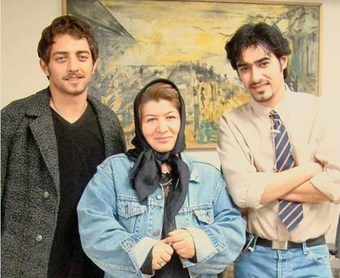 شهاب حسینی و بهرام رادان در کنار پوران درخشنده