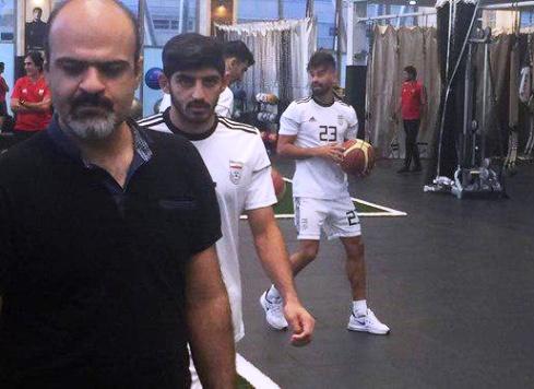 رامین رضاییان در اردوی تیم ملی