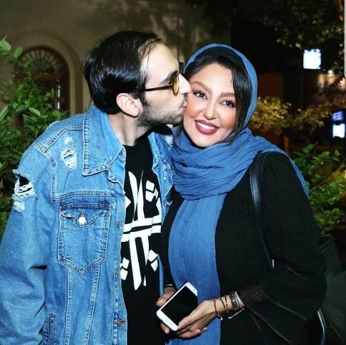 بوسه سام حسامي برصورت مادرش شقايق فراهاني