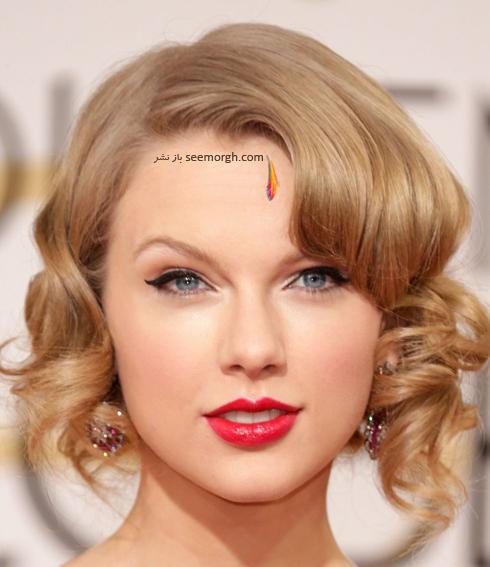 مدل مو,مدل مو جمع,بهترين مدل مو جمع,مدل مو جمع به سبک تيلور سويفت Taylor Swift - مدل مو شماره 1