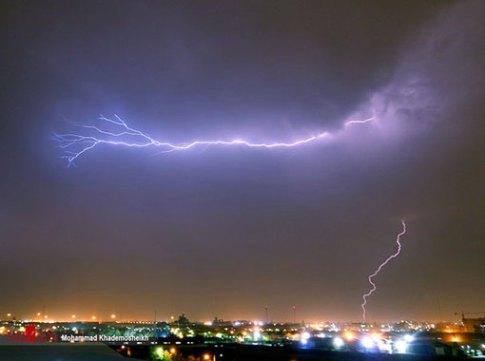 رعد و برق در آسمان تهران 2