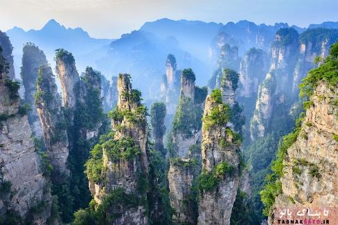 نمايي از پارک جنگلي ملي ژانگجيجي (Zhangjiajie)