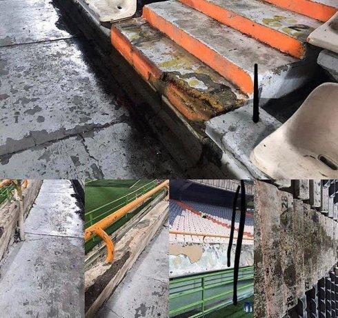 خرابی های ورزشگاه آزادی