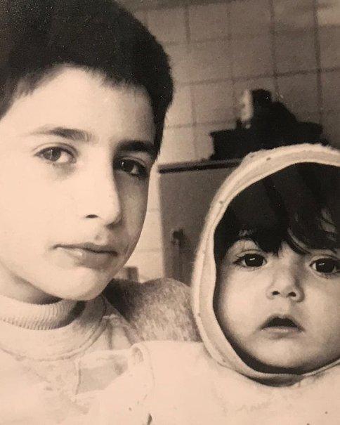 باران کوثری و برادرش در کودکی