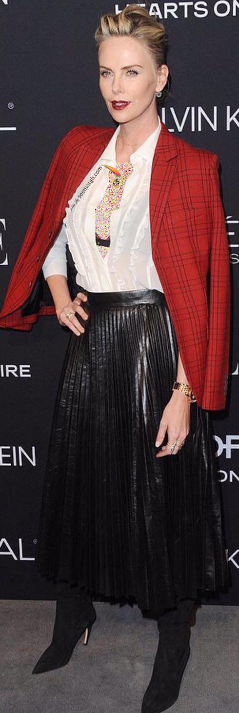 مدل لباس,مدل لباس شارلیز ترون Charlize Theron در مراسم تقدیر از زنان هالیوود در مجله Elle