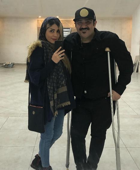 مهران غفوریان و همسرش آرزو