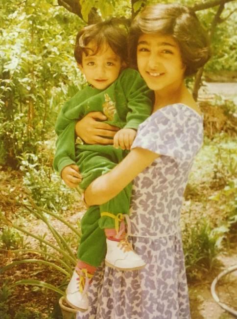 گلشیفته فراهانی در کنار خواهر زاده اش