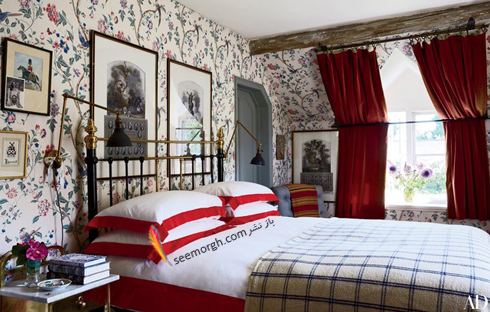 کاغذ دیواری,دکوراسیون اتاق خواب,کاغذ دیواری برای اتاق خواب,جدیدترین مدل های کاغذ دیواری برای اتاق خواب,کاغذ دیواری گل دار برای اتاق خواب