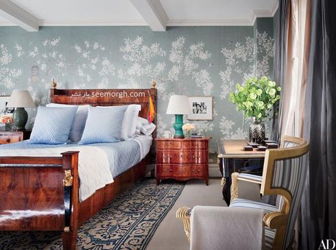 کاغذ دیواری,دکوراسیون اتاق خواب,کاغذ دیواری برای اتاق خواب,جدیدترین مدل های کاغذ دیواری برای اتاق خواب,کاغذ دیواری با طرح برگ برای اتاق خواب