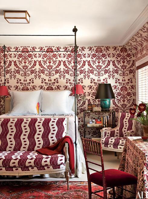 کاغذ دیواری,دکوراسیون اتاق خواب,کاغذ دیواری برای اتاق خواب,جدیدترین مدل های کاغذ دیواری برای اتاق خواب,کاغذ دیواری اتاق خواب با طرح سنتی