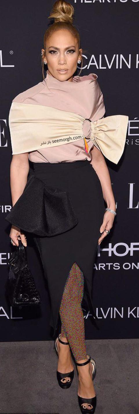 مدل لباس,مدل لباس جنیفر لوپز Jennifer Lopez در مراسم تقدیر از زنان هالیوود در مجله Elle