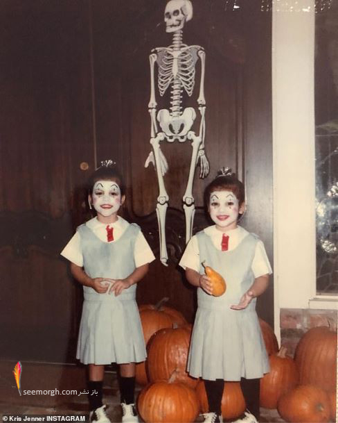 جشن هالووین,گریم هالووین,ترسناک, گریم سلبریتی ها,کریس جنر,کیم کارداشیان