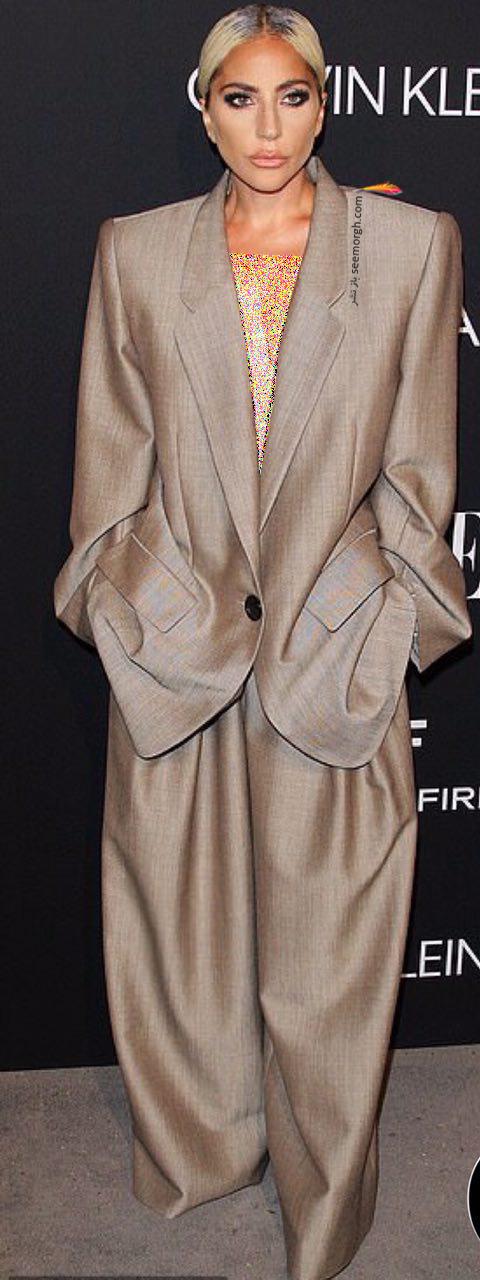 مدل لباس,مدل لباس لیدی گاگا Lady Gaga در مراسم تقدیر از زنان هالیوود در مجله Elle