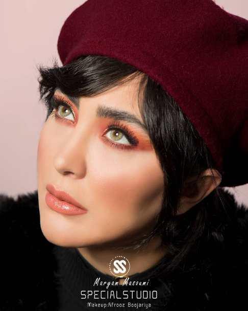 عکس جدید مریم معصومی با لنز رنگی
