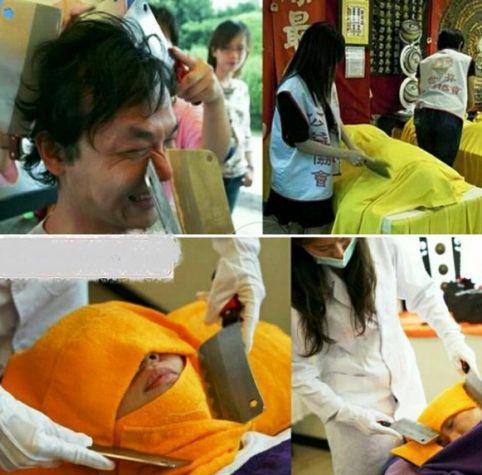 ماساژ با چاقو در تایلند