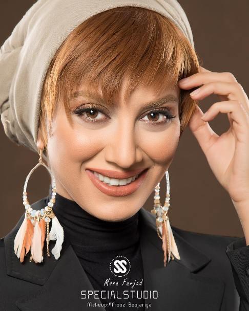مونا فرجاد به عنوان مدل آرایش شد