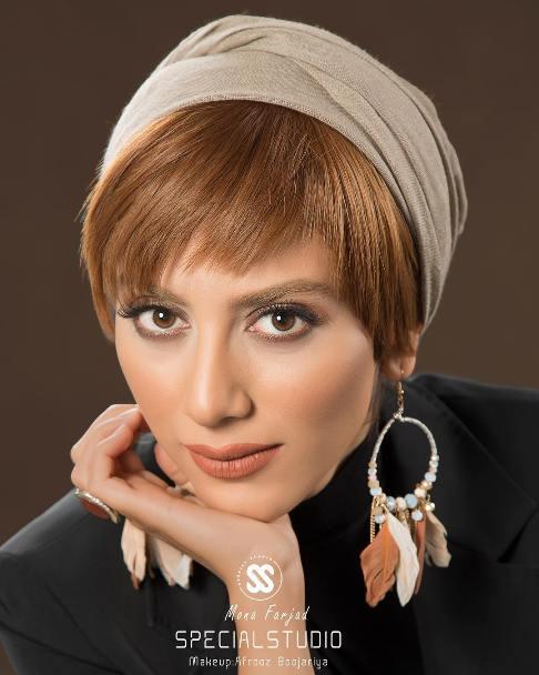 چهره مونا فرجاد به عنوان مدل آرایشی