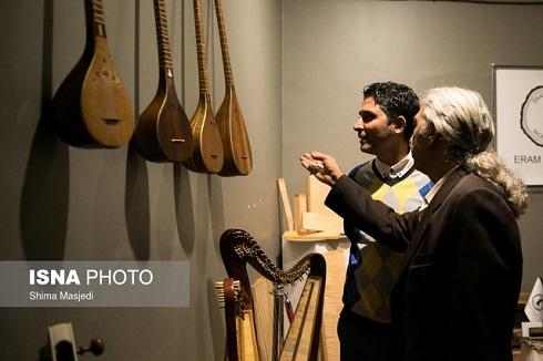افتتاح نمایشگاه سازخانه,نمایشگاه موسیقی,خانه هنرمندان,نمایشگاه موسیقی در خانه هنرمندان,نمایشگاه ساز به یاد شجریان
