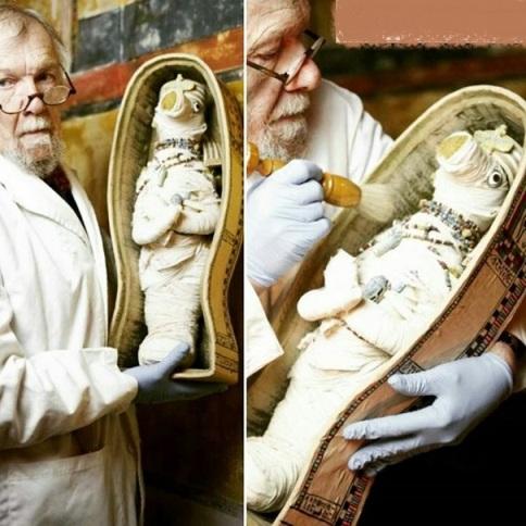 عروسک مومیایی شده فرعون مصر