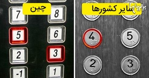 برخی آسانسورها در چین عدد ۴ ندارند