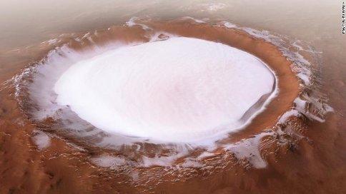 آتشفشان یخی کورولف در مریخ