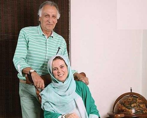 احمد نجفی و همسرش