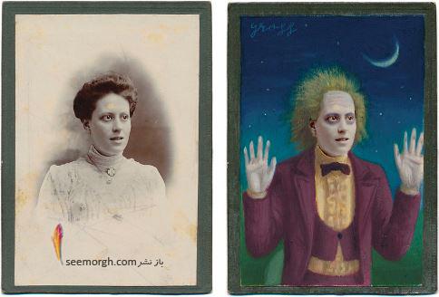 عکس قدیمی,عکس ویکتوریایی,ابرقهرمان,هالیوود,نقاشی,Alex Gross,