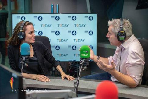 آنجلینا جولی,بی بی سی,همکاری با بی بی سی,عکس  آنجلینا جولی