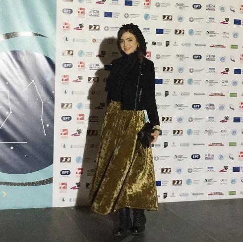 آوا دارویت,جشنواره فیلم یونان,آوا دارویت روی فرش قرمز,آوا دارویت در فیلم اسکی باز,فیلم اسکی باز در جشنواره یونان